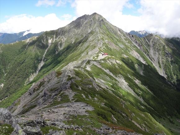 中白根から北岳
