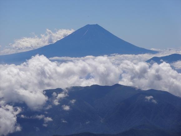 標高2位北岳から1位富士