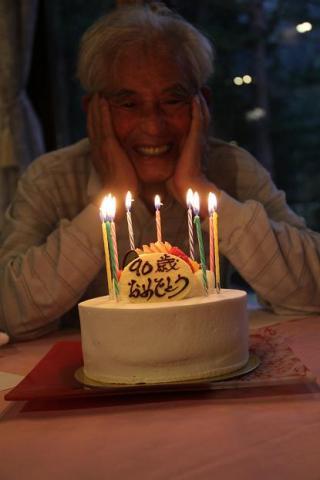 ケーキとおじいちゃん
