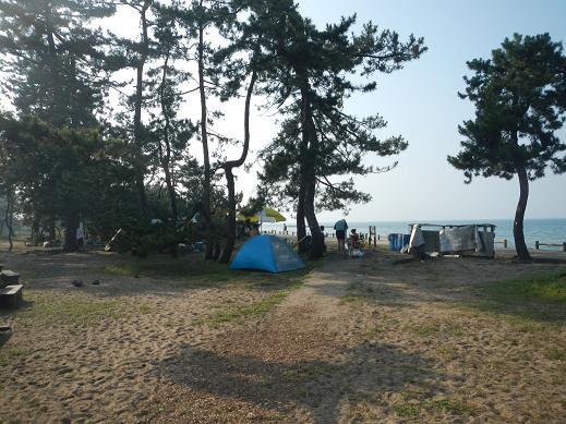 雨晴松太枝浜キャンプ場
