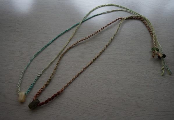 天然石ネックレス2種