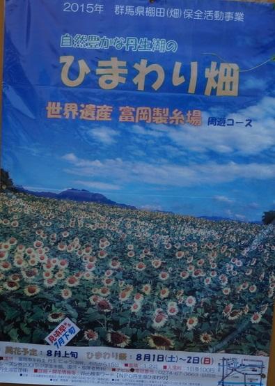 ひまわり畑のポスター