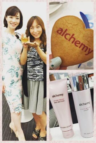 アルケミースキンケアセミナー 美容家の福井美余先生とだっきゃ