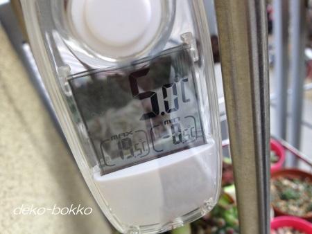 外気温 -0.5度