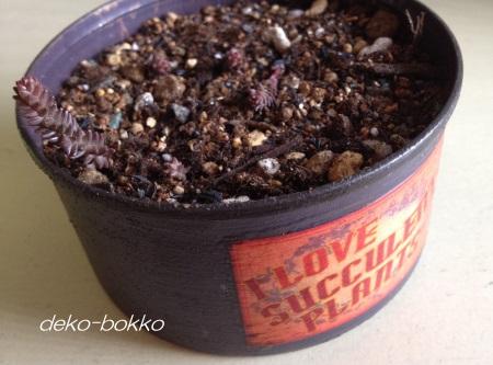 ぶるぐりさんラベル 紫リメ缶 ラベンダー