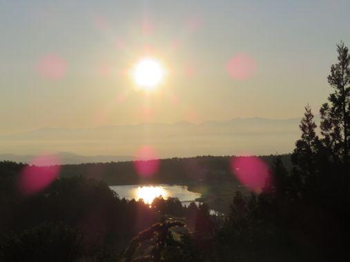 早朝の飯綱東高原