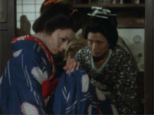 増村保造 『曽根崎心中』 梶芽衣子演じる主人公は虚空を見つめている。