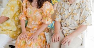 かりゆし_沖縄結婚式_黄色イエロー統一