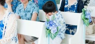 かりゆし_沖縄結婚式_青ブルー統一