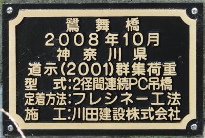 鷺舞橋の銘板