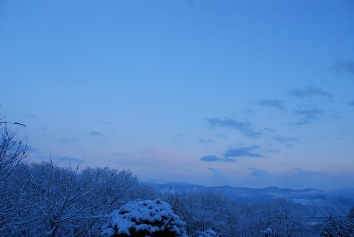 雪降りやんで11