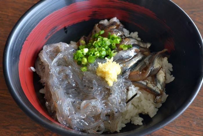 田子の浦漁港食堂・親子丼(いわし)