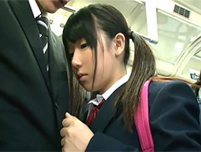 間違えて女子校の通学BUSに乗ったら大人しそうな愛おしい10代小娘に痴ジョられた☆