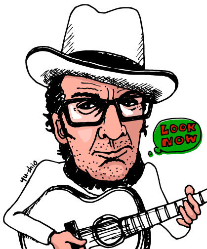 Elvis Costello caricature likeness