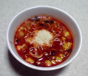 太陽のトマト麺 トマトラーメン(カップ版)(できあがり)