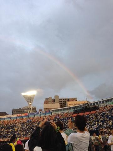 ハマスタの虹