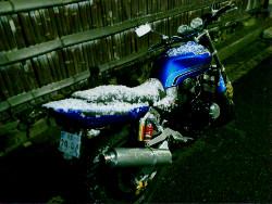 バイクの雪