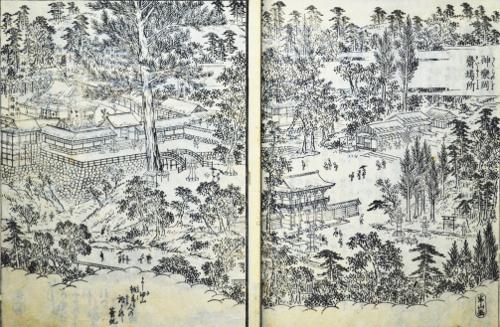 「花洛名勝図会」より「神楽岡斎場所」