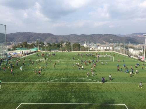 朝日新聞&サンフレッチェ広島ファミリーサッカースクール(2015:2:11 水)1/2