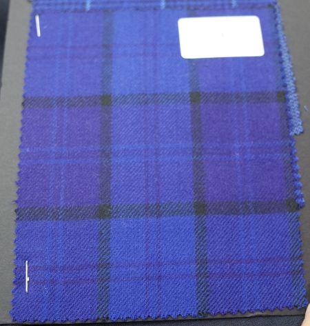 W.Billのジャケット生地PHOENIX(フェニックス)ブルーのチェック