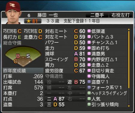藤田 一也 プロ野球スピリッツ2015 ver1.06