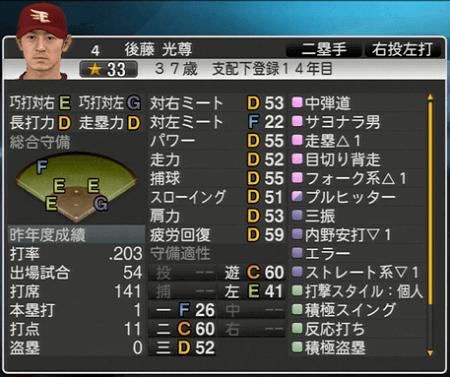 後藤 光尊 プロ野球スピリッツ2015 ver1.06