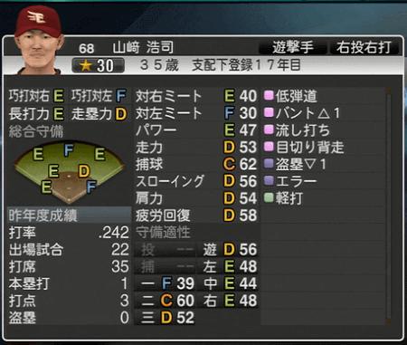 山﨑 浩司 プロ野球スピリッツ2015 ver1.06