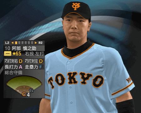 阿部慎之助 プロ野球スピリッツ2015 ver1.06