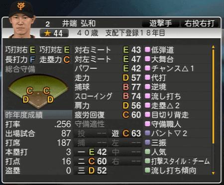 井端弘和 プロ野球スピリッツ2015 ver1.06
