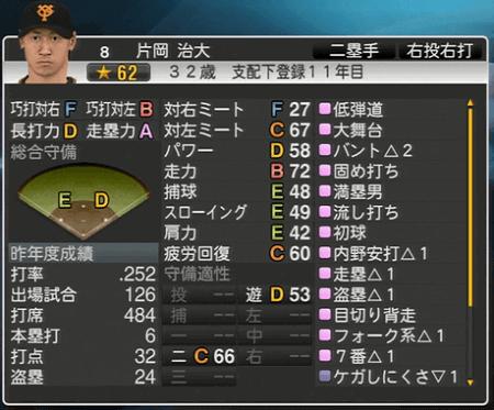 片岡治大 プロ野球スピリッツ2015 ver1.06