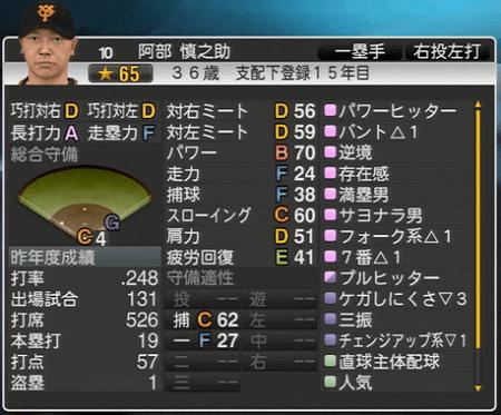 阿部慎之介 プロ野球スピリッツ2015 ver1.06
