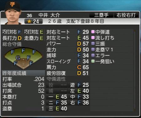 中井大輔 プロ野球スピリッツ2015 ver1.06