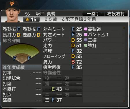 坂口真規 プロ野球スピリッツ2015 ver1.06