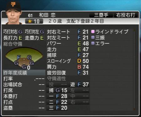 和田恋 プロ野球スピリッツ2015 ver1.06