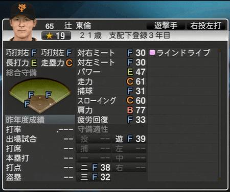辻東倫 プロ野球スピリッツ2015 ver1.06