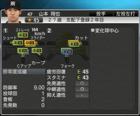 山本翔太 プロ野球スピリッツ2015 ver1.06