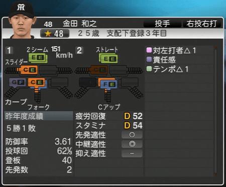金田和之 プロ野球スピリッツ2015 ver1.06