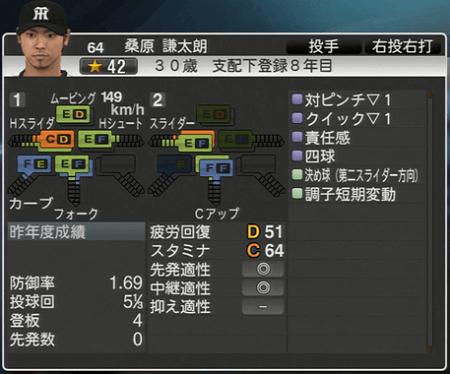 桑原謙太郎 プロ野球スピリッツ2015 ver1.06