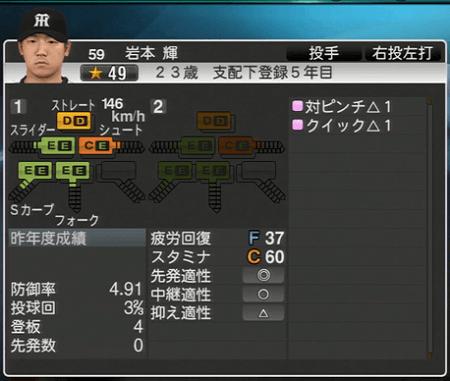 岩本輝 プロ野球スピリッツ2015 ver1.06