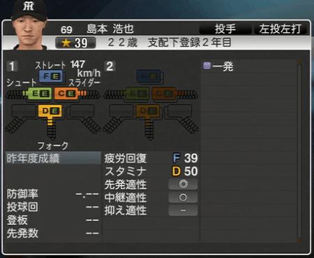 島本裕也 プロ野球スピリッツ2015 ver1.06
