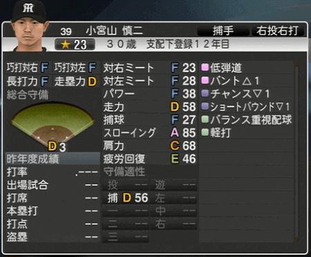 小宮山慎二 プロ野球スピリッツ2015 ver1.06
