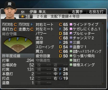 伊藤隼太 プロ野球スピリッツ2015 ver1.06