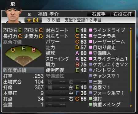 福留孝介 プロ野球スピリッツ2015 ver1.06