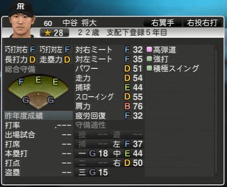 中谷将大 プロ野球スピリッツ2015 ver1.06