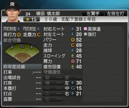 横田慎太郎 プロ野球スピリッツ2015 ver1.06
