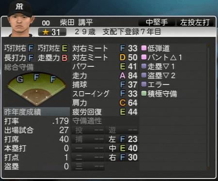 柴田講平 プロ野球スピリッツ2015 ver1.06