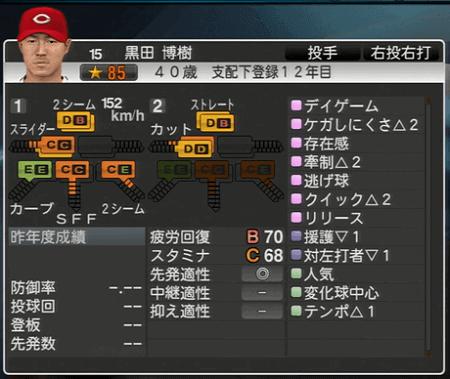 黒田博樹 プロ野球スピリッツ2015 ver1.06