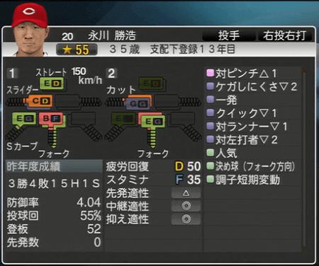 永川勝浩 プロ野球スピリッツ2015 ver1.06