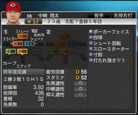 中崎翔太 プロ野球スピリッツ2015 ver1.06
