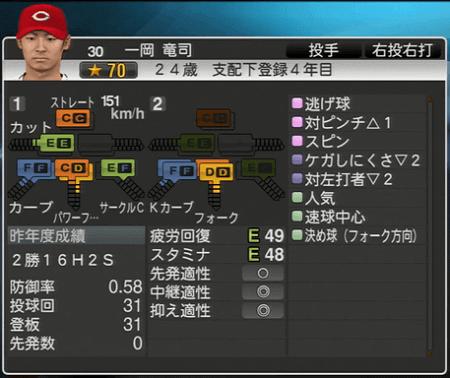 一岡龍司 プロ野球スピリッツ2015 ver1.06